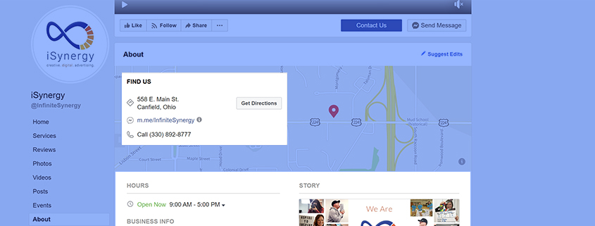 Keeping your business information consistent on Facebook and other social media platforms is important.