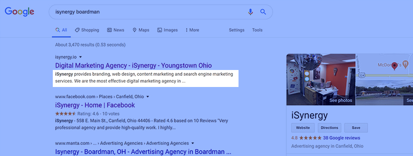 Meta description has zero SEO value. But, why do we put it on here? Because it's user intent.